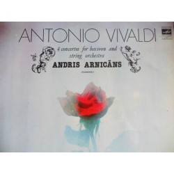 """Andris Arnicans """"Vivaldi 4 Concertos for bassoon and string orchestra"""" LP"""