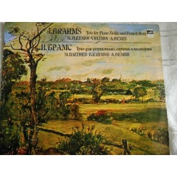 "J. Brahms‎ ""Trio For Piano, Violin And French Horn"" LP"