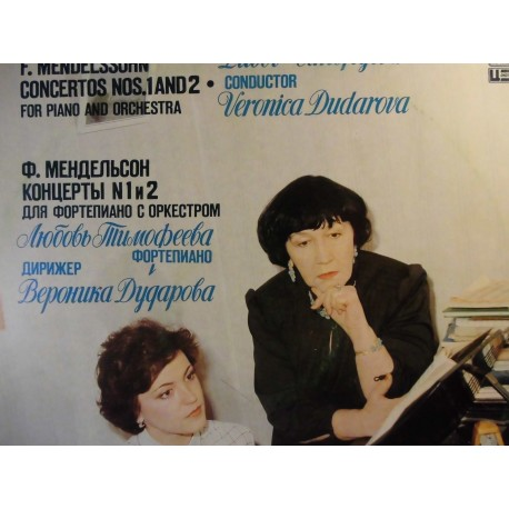 "F. Mendelssohn ""Concertos Nos. 1 And 2 For Piano And Orchestra"" LP"